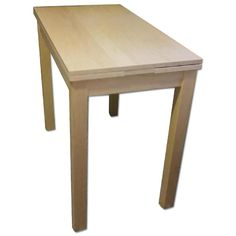 """This is a Ikea Bjursta Expandable Dining Table for $50.00. Got a replacement table and looking to sell this one. Great for small spaces. Expands from 19 3/8"""" to 35 3/8"""". Has some minor scuffs on the tabletop, but they're faint and only noticeable in certain light. Leaves pull out of both sides of the table. It's not very heavy - one strong person could carry it, but it'd be easiest with two people. A friend gave me another table that I like better, so I'm selling this one off."""