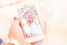 cute floral lock screen and iphone