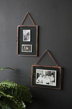 Photo Frame With Chain - Set of 2 Copper - Picture Frames - Home Accessories
