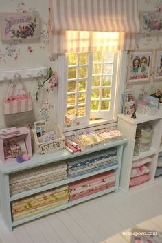 Commissioned work :) | Flickr - Photo Sharing!  Miniature shabby chic sewing room