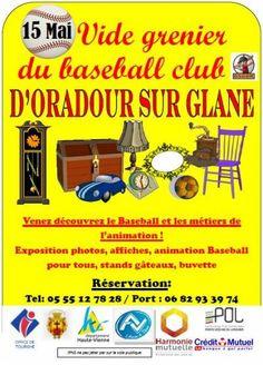 affiche 2e Vide Grenier du Baseball Club  d