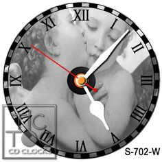 eBlueJay: S-702-W CD CLOCK - KISSING ANGELS WITH WHITE HANDS