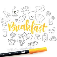 1,084 отметок «Нравится», 19 комментариев — Apsi's visual notes & doodles (@therevisionguide) в Instagram: «Breakfast is definitely my favorite meal of the day.. But, my breakfast is rarely very…»