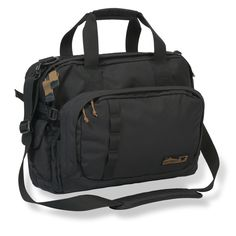 Carry your laptop and on-the-go essentials easily in this large messenger bag. Durably made from Cordura fabric, this bag features pockets and compartments for organization and an adjustable shoulder