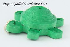 Paper Quilled Turtle Tutorial - 3D Quilling - Pendant or Magnet