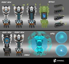 ArtStation - weapon,shield,arm concepts, Rock D