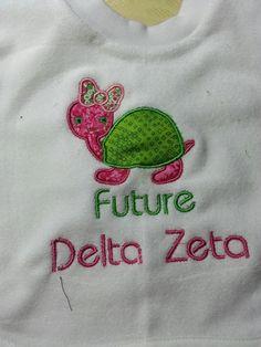 Future Delta Zeta Bib @Caroline Childs baby girl needs this!!