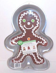 Wilton 1998 Gingerbread Boy Cake Pan Mold #2105-3313 #Wilton