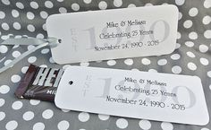 25th Wedding Anniversary Favors, 25th anniversary, wedding anniversary favors,  by abbey and izzie designs on Etsy