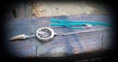Real deer antler dreamcatcher necklace..Antler Tip.. antler ring...made from deer antler jewelry by FindleysDreamTree on Etsy