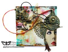 Tendrils of Excess Thought. Mixed media assemblage by Gayle Price