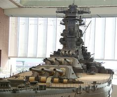 1/10 scale model of Yamato in Kure city in Japan. Yamato (大和) was a battleship of the Imperial Japanese Navy during World War II, and flagship of the Japanese Combined Fleet.