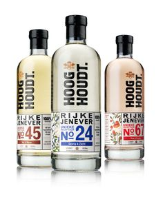Hooghoudt Gin. Attractive packaging, but I'm torn on whether or not these elements are really working together correctly.