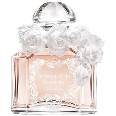 Guerlain Le Bouquet De La Mariée Fragrance/4.2 Oz. (£795) ❤ liked on Polyvore featuring beauty products, fragrance, beauty, orange, citrus fragrances, flower perfume, cosmetic purse, perfume fragrance and travel bag