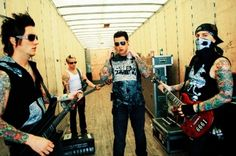 Avenged Sevenfold behind the scenes at one of their concerts