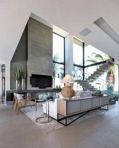 Home Design Decor, Home Room Design, Home Interior Design, Living Room Designs, Home Decor, Modern Villa Design, Dream House Interior, House Rooms, House Styles