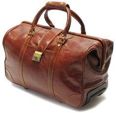 Leather rolling duffle bag | WhereIBuyIt.com