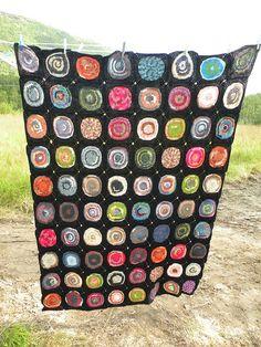 Hege's sock yarn blanket < Wow!!!!!!!!!!!!!