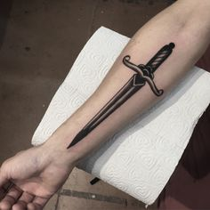 Black Dagger Design - http://www.tattooideas1.org/placement/forearm/black-dagger-design/