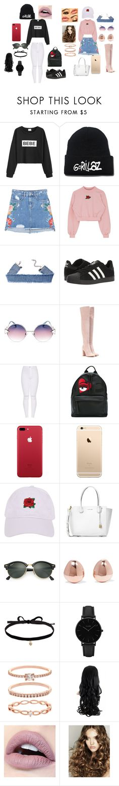 """tomboy vs girly girl"" by aniquethompson on Polyvore featuring WithChic, MANGO, adidas, Fendi, Gianvito Rossi, Chiara Ferragni, Armitage Avenue, Michael Kors, Ray-Ban and Monica Vinader"