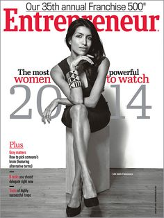 "Entrepreneur magazine - January 2014 featuring ""The most powerful #WomentoWatch 2014"""
