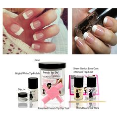 One of my all time favourite nail polish styles is the French Manicure, its just so classy & stylish and matches all looks. We have just introduced some new French Tip Dip French Manicure Kits to our range which have all the tools including the genius French Tip Dip Nail Tool and also the Nail Polishes to achieve the perfect French Manicure at home.  http://www.secretfashionfixes.ie/french-tip-dip-deluxe-french-manicure--pedicure-kit-/frenchtipdipdeluxepd.html