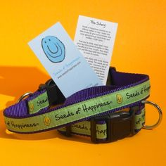 Happy Dog Pet Collar : Seeds of Happiness, Share a Smile!
