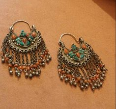 Tsafi Gome - from my private collection:  Ethnic earrings, Uzbekistan