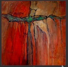 """""""Radiant""""  Carol Nelson uses mixed media to make paintings look like geographical patterns."""