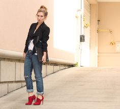TfDiaries By Megan Zietz: New Accessory: Sole Society vibrant red booties