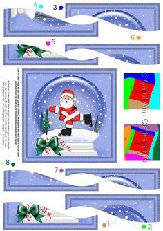 Cute Christmas Santa Snowglobe Wavy Spiral Side Stacker by Carol Clarke One of my soft and adorable felties designs. Pop felties in the…