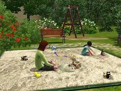 Mod The Sims - Functional Pile of Sand Sims 4 Toddler, The Sims, Sims Cc, Outdoor Toys For Toddlers, Sims 3 Cc Finds, Sims 3 Mods, Download Cc, Outdoor Life, Pets