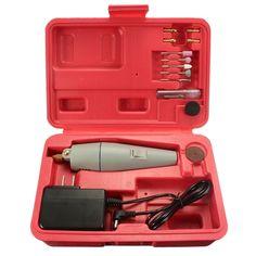 WLXY® DC 12V mini molino de taladro eléctrico estupendo fija con el adaptador de la energía