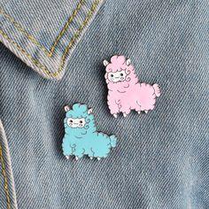 Cartoon Animal Lovely Little Sheep Alpaca Brooch Button Pins Pink Blue Brooch Denim Jacket Pin Badge Gift Cartoon Jewelry $2.99   #instalike #cool #stylish #dress #glam #fashionista #pretty #beauty #swag #model #styles #instafashion #cute #instastyle #streetstyle