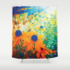 #society6 #showercurtain #floral #daisies #happy