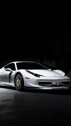 Italian sports car Ferrari (White)