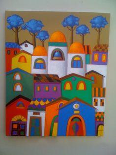 Xavier Portilla '' iglesia de pueblo '' Artistas y arte. Artistas de la tierra