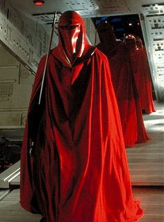 Isn't it strange that the guards of the evil Emperor on star wars look exactly like the personal confidants/assistants to the Pope, the Cardinals? Description from creationsciencestudy.wordpress.com. I searched for this on bing.com/images