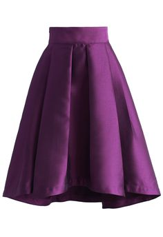 Purple Pleated Waterfall Skirt - New Arrivals - Retro, Indie and Unique Fashion