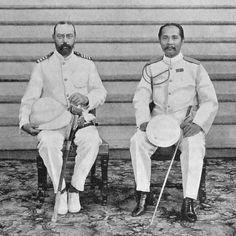 King Chulalongkorn (King Rama V) welcomes Danish Crown Prince Prins Valdemar 1900 | via: teakdoor.com/