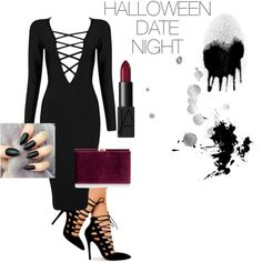 Halloween Date Night by savanah-herbert on Polyvore featuring polyvore, fashion, style, Posh Girl, Monsoon and NARS Cosmetics
