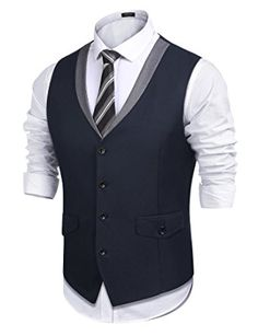 55899027aef Shop Men s Style Slim Fit Business Suit Dress Vest Skinny Formal Waistcoat  - Black - and Discover a Huge Selection of Men s Sport Coats at Affordable  Price.