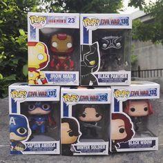 10CM Q Version Captain America: Civil War Bucky Black Widow Black Panther Action Figure Car Furnishing Articles Model Ornament #Affiliate