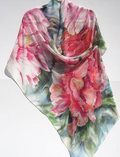 PEONY Silk Wrap by SilkSiren on Etsy