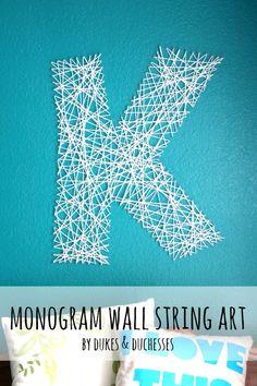 monogram wall string art
