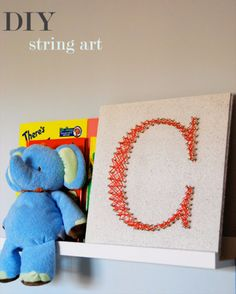 DIY String Art Projects - Easy DIY String Art - Cool, Fun and Easy Letters…