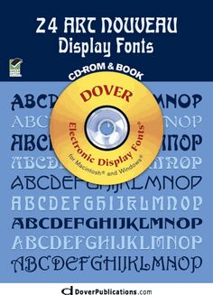 24 Art Nouveau Display Fonts CD-ROM and Book
