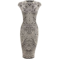 ALEXANDER MCQUEEN | Dresses | Spine Lace Crochet Jacquard Pencil Dress £ 860.00