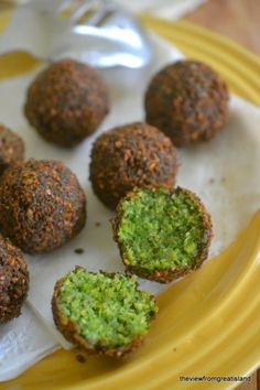 Emerald green falafel recipe