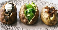 I try to stay away from potatoes, but, since moderation in all things is my philosophy, these recipes may come in handy!!  Baked potatoes and veggies!